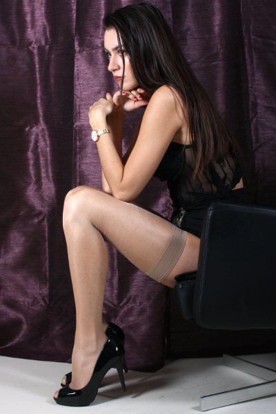 Silky Super Shine Stockings Strømper  / Strumpbyxor.com