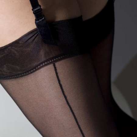 Gipsy Cuban-heel seamed stocking Strømper Med søm Under kr.50 / Strumpbyxor.com