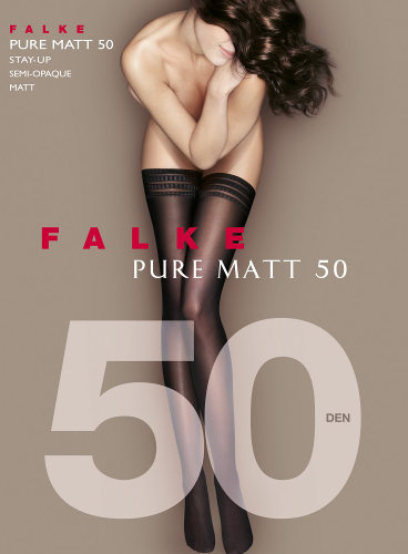 Falke Pure Matt 50 Selvsiddende - Stay-up Efterår & vinter / Strumpbyxor.com
